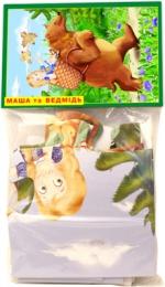 """Пазлы 12 """"Маша и медведь"""" в пакете"""